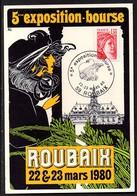 ROUBAIX - 5eme Exposition-bourse . 1980 - Bourses & Salons De Collections