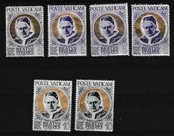 1951 Vaticano Vatican PAPA ORO PIO X 6 Lire (x 4) + 10 Lire (x2) MNH** - Vaticaanstad