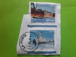 France 2019 , Timbre HELSINKI No 5307 & 5308 Du Bloc Feuillet F 5307 Obl 16.8.2019 , Sur Fragment TB - Sheetlets