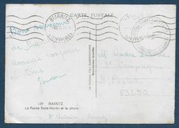 Basses Pyrénées - Hôpital Complémentaire CONTINENTAL BIARRITZ - Marcophilie (Lettres)