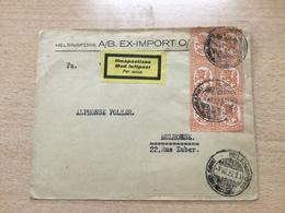 K8 Finnland 1927 Luftpostbrief Von Helsingfors Nach Mulhouse Schöne MeF - Finnland