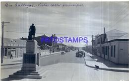 118477 ARGENTINA RIO GALLEGOS VISTA CALLE PRINCIPAL 16.5 X 10 CM PHOTO NO POSTAL POSTCARD - Fotografie