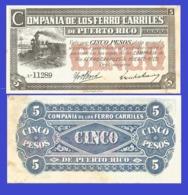 Puerto Rico 5 Pesos 1880 - Puerto Rico