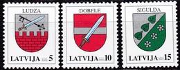 Lettland, 2002, 562/64,  Freimarken: Wappen. MNH ** - Lettland