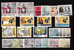 1981 Vaticano Vatican  ANNATA COMPLETA YEAR 6 Serie (24 Valori) USATA OBLITERATED - Vaticaanstad