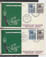 Belgique: 1025/1026   Sur 2 FDC - 1957