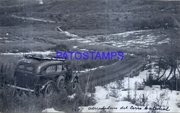 118482  ARGENTINA RIO NEGRO BARILOCHE HOTEL CATEDRAL NIEVE SNOW AUTOMOBILE CAR AÑO 1947 16.5 X 10.5 CM PHOTO NO POSTCARD - Fotografie