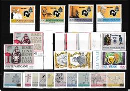 1981 Vaticano Vatican  ANNATA YEAR 23 Valori (eccetto 150L Serie Ordinaria) MNH** - Vaticaanstad