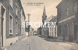 519 La Poste Et L'Eglise - Rhode-St-Genèse - Sint-Genesius-Rode - Rhode-St-Genèse - St-Genesius-Rode