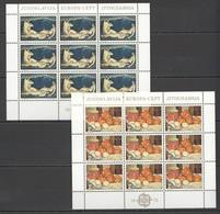 EC010 1975 YUGOSLAVIA EUROPA CEPT ART PAINTINGS FOLKLORE 2KB MNH - Europa-CEPT
