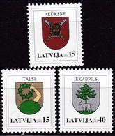 Lettland, 2005, 628/30,  Freimarken: Wappen. MNH ** - Lettland
