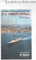 FRANCE BF 47 Transports Le Siècle Au Fil Du Timbre Dans Encart De La Poste - Ungebraucht