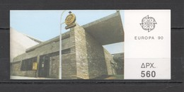 EC014 1990 GREECE EUROPA CEPT ART BUILDINGS POST OFFICES !!! BOOKLET MNH - Europa-CEPT