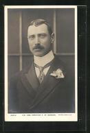 AK H. M. King Christian X Of Denmark, König Von Dänemark In Anzug Mit Stehkragen Und Rose Am Revers - Royal Families