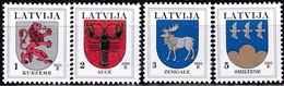 Lettland, 2006, 370/72+421+541,  Freimarken: Wappen. MNH ** - Lettland
