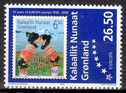 Grönland MiNr. 457 ** 50 Jahre Europamarken - Ungebraucht