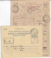 1952 - COURS D'INSTRUCTION - BORDEREAU DES VALEURS à RECOUVRER Avec ENVELOPPE Du COURS PRATIQUE De LYON - Cours D'Instruction
