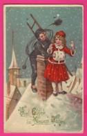 CPA GAUFRÉE (Réf: Z 2390) (FÊTES VŒUX BONNE ANNÉE)  Petit Ramoneur - Neujahr