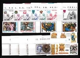 1980 Vaticano Vatican ANNATA  YEAR 5 Serie Cmpl. Con Posta Aerea MNH** - Vaticaanstad