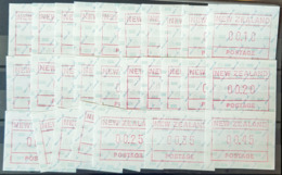 NEW ZEALAND 1986 - MNH - ATMs (27 Values) - Unused Stamps