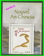 2013 - Année Du Serpent - Y&T N° 4712A - Faciale 0,60€ Au Lieu De 0,63€ - Neuf** Sans Charnière - MNH - Errors & Oddities
