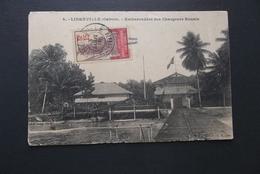 Gabon: 1918 PPC To France (#JS8) - Gabon (1886-1936)