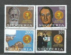 Albania Correo 2001 Yvert 2593/6 ** Mnh Premio Nobel - Albanië