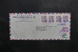 CORÉE - Enveloppe Commerciale De Séoul Pour La Suisse En 1961, Affranchissement Plaisant - A Voir - L 40448 - Corée Du Sud