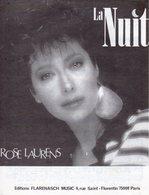 PARTITION ROSE LAURENS - LA NUIT - 1986 - EXC ETAT COMME NEUF - - Music & Instruments