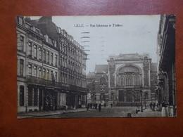 Carte Postale  - LILLE (59) - Rue Inkerman Et Théâtre (3323) - Lille
