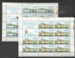 EC034 1977 MALTA EUROPA CEPT ART LANDSCAPES ARCHITECTURE 2SH MNH - Europa-CEPT