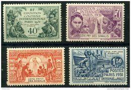 Cote Des Somalis (1931) N 137 à 140 * (charniere) - Costa Francesa De Somalia (1894-1967)