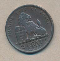 België/Belgique 2 Ct Leopold II 1871 Fr Morin 208 (89386) - 1865-1909: Leopold II