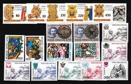 1980 Vaticano Vatican ANNATA  YEAR Con Posta Aerea (eccetto 2 Valori Bernini) MNH** - Vaticaanstad