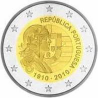 Portugal 2010    2 Euro Commemo     100 Jaar Portugese Republiek .      UNC Uit De Rol  UNC Du Rouleaux  !! - Portugal