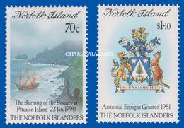 NORFOLK ISLAND 1989 S.G. 477-478  SETTLEMENT  1ST. ISSUE . U.M. N.S.C. - Norfolk Island
