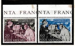1953 Vaticano Vatican SAN BERNARDO Serie Di 2 Valori MNH** - Vaticaanstad