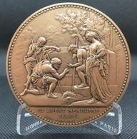 0057 - MEDAILLE Les Bergers D'Arcadie D'après Nicolas Poussin - GRAVEE LIONS CLUB 1995 - Bronze - France