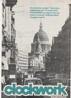 Revue CLOCKWORK 7 En Anglais 8 Pages En 1977 An MGP Magazine Series 4 - Culture