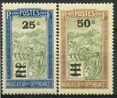 Madagascar (1932) N 188 à 189 * (charniere) - Madagascar (1889-1960)