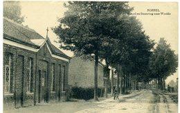 BELGIQUE - POPPEL - School En Steenweg Naar Weelde. - Belgique