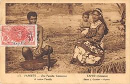 CPA TAHITI PAPEETE UNE FAMILLE TAHITIENNE A NATIVE FAMILY - Tahiti