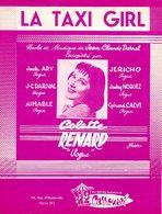 PARTITION COLETTE RENARD / JEAN CLAUDE DARNAL - LA TAXI GIRL - 1960 - EXC ETAT PROCHE DU NEUF - - Music & Instruments