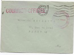 1948 - AUTRICHE - ENVELOPPE COURRIER OFFICIEL Du COMMISSARIAT FRANCAIS DIVISION INFORMATION => PARIS - Marcophilie (Lettres)
