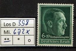 Los D398: DR Mi. 672 X ** - Neufs