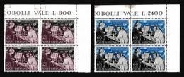 1953 Vaticano Vatican SAN BERNARDO 2 Serie Di 2v. MNH** 60L Linguella Su Bordo Bl.4 - Vaticaanstad
