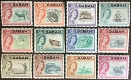 Malaysia Sabah 1964-5 Definitive Set To 75c Animals MNH - Malaysia (1964-...)