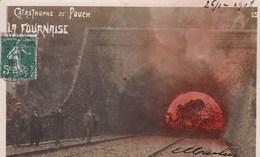 CATASTROPHE DU TUNNEL DE POUCH 15 Decembre 1908 ,la Fournaise, CARTE PHOTO ,(( Lot 338 )) - Frankrijk