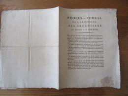 5 OCTOBRE 1811 PROCES-VERBAL DE L'ASSEMBLEE DES CREANCIERS DU SIEUR P. U. VIRNOT  6 PAGES - Documents Historiques
