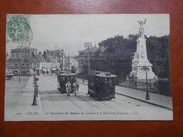 Carte Postale  - CALAIS (62) - Monument Des Enfants Du Calaisis Et Boulevard Jacquard - ATTELAGE (3342) - Calais